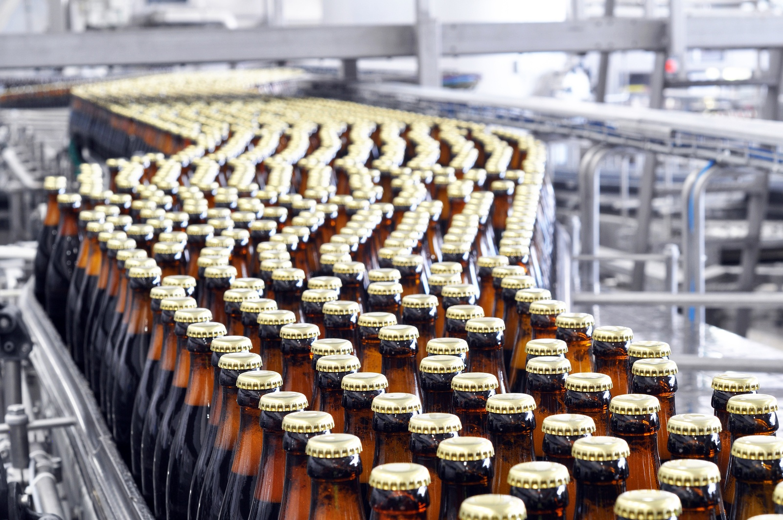Bigstock  125354308 - Fermentation In A Brewery - Tanks With Beer For Brewing