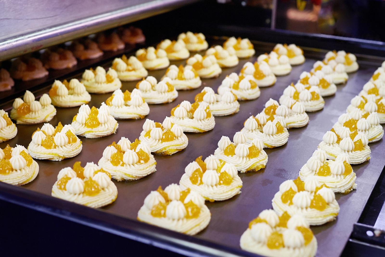 dessert in a factory