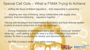 Special Call Outs - What is FSMA Trying to Achieve