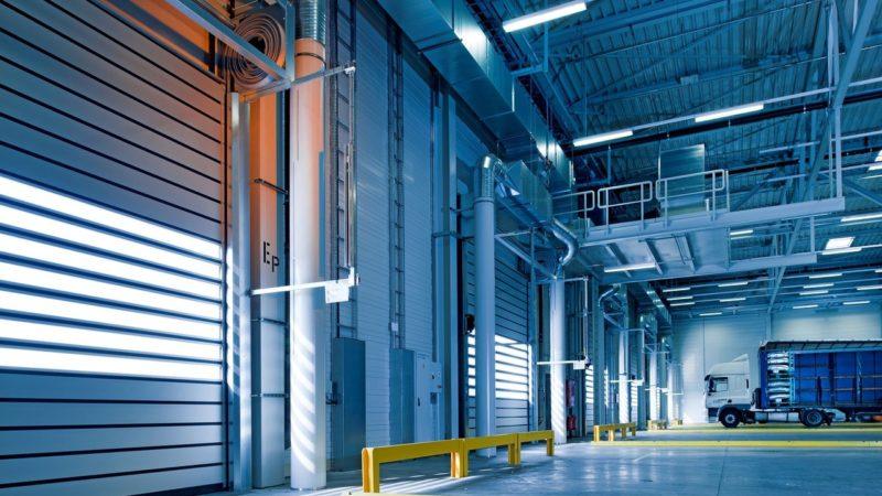 shipping bay in warehouse